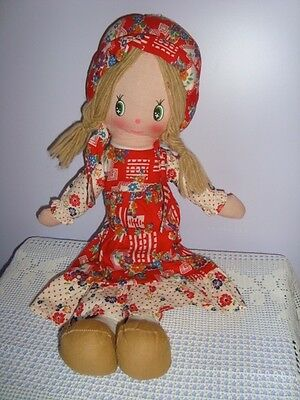 HOLLY HOBBIE COUNTRY BAMBOLA VINTAGE PEZZA  old doll toy muneca poupee bambolina