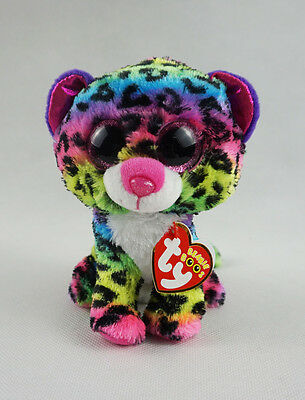 "6"" TY Beanie Boos Glitter Eyes Dotty Leopard With Hang Tag Plush Stuffed Toys"