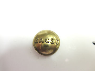 Vintage E A C S O  brass  uniform button. 17mm. EAST AFRICA COMMON SERVICES ORG