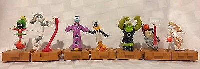 VINTAGE 1996 Collection Of 7 Looney Tunes SPACE JAM Figures-Buggs,Daffy,Taz,Lola