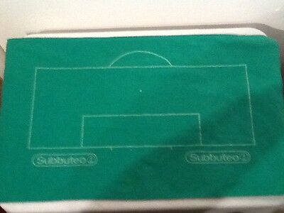 1970s vintage subbuteo green baize football pitch