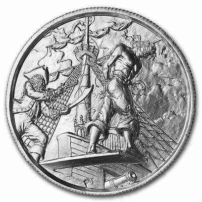 Privateer Series - The Plank - 2oz ultra high relief silver round in capsule