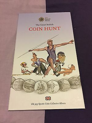 London 2012 Olympic 50p Collection Coin Hunt Album Folder With Full Set Of Coins