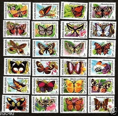 Romania 1991 Stamps Sc # 3696 A-L 3697 A-L  Butterflies Insects MNH