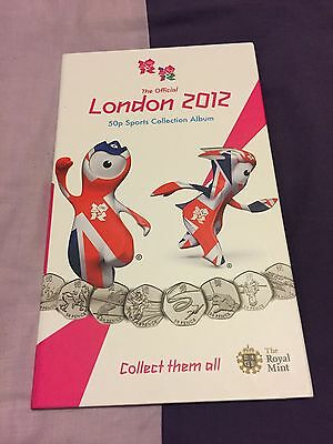 London 2012 Olympic 50p Collection Original Album Folder With Full Set Of Coins