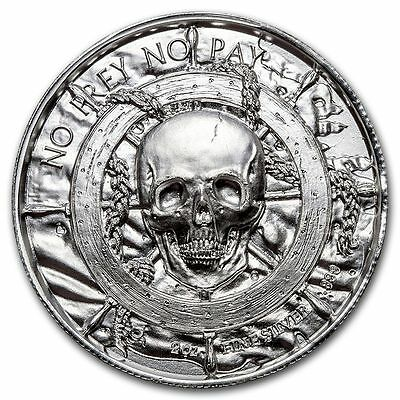 Privateer Series - The Siren - 2oz ultra high relief silver round in capsule