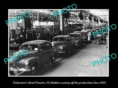 OLD LARGE HISTORIC PHOTO OF FX HOLDEN BUILT AT FISHERMANS BEND FACTORY c1951