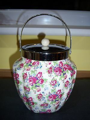 Rare Chintz Biscuit Barrell By Royal Tudor Ware Barker Brothers England