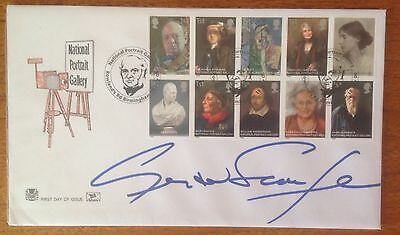 First Day Cover hand signed by Gerald Scarfe