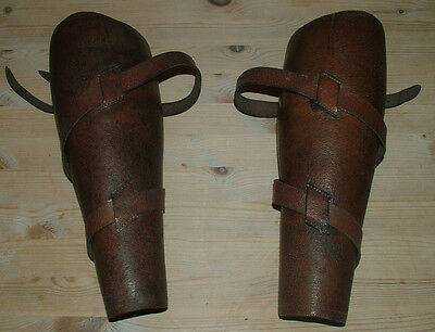 cavalry vtg original ww1military shin guards spats gaiters vgc leather collect