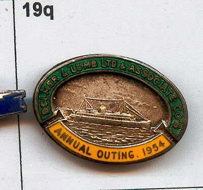 Bulmer and Lumb & associated Co's annual outing 1954-Ferry? Enamel