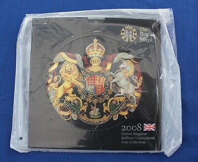 2008 Royal Mint 9 coin Uncirculated set in folder - Factory Sealed   (X5/23)