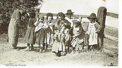 "RPPC Of "" The Village Truants "" unused card"
