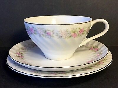 Cup Saucer Plate Teahouse Rose  Dansico Fine China Made In Japan 15 Pc.