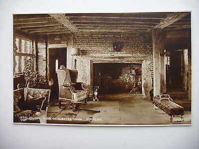 Saloon, Anne of Cleves house, Ditchling - vintage sepia real photograph