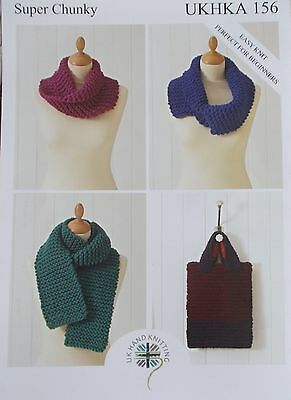 Scarf , Bag and Snoods in Super Chunky   -   UKHKA 156