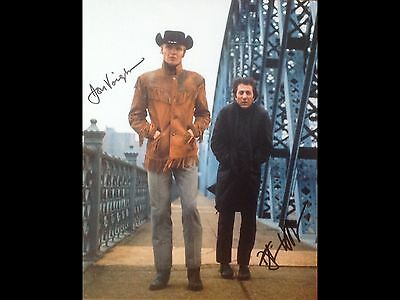 10x8 Hand Signed Photograph of Jon Voight and Dustin Hoffman