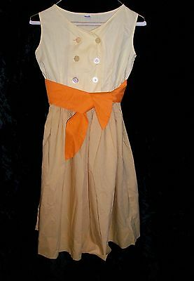 LINDA LO by Hymar Vintage Mid-Century 1950's 1960's Girl's Cotton Sun Dress