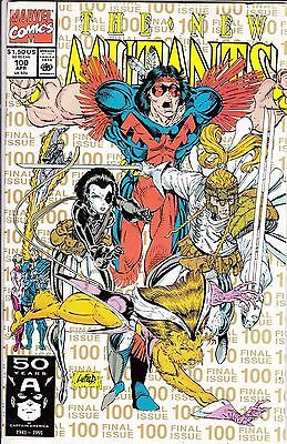 NEW MUTANTS #100  VF/VF+   APRIL VERY CLEAN WHITE  GOLD LETTERS  2nd PRINT
