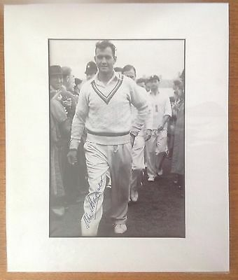 Alec Bedser Mounted Overall 12x10 Photo Hand Signed
