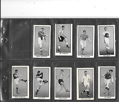 Thompson / Wizard - Famous Footballers - 1956 - Very Good Full Set In Sleeves