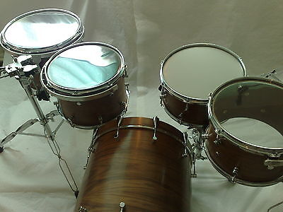 £3K Custom Walnut Drum Kit Shell Pack NO rims dw cymbal tom stand pedal snare a