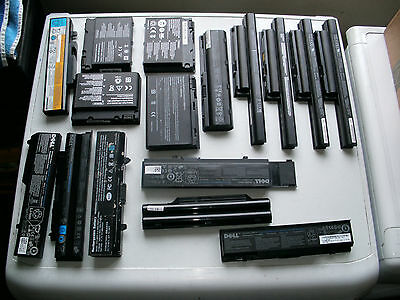 job lot of 32 laptop batteries