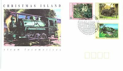 Christmas Island 1994 Steam Locomotives Railway FDC