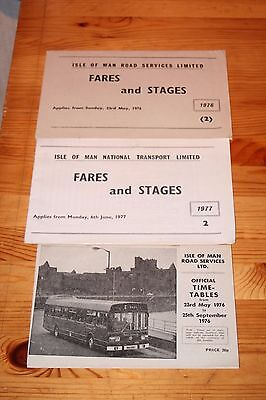 Isle of Man Road Services 1976 Timetables