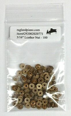 "100 Leather Nuts 3/16"" for Player Piano Repair"