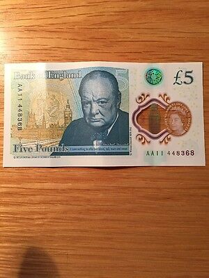 AA11 Bank Of England Polymer £5 Note