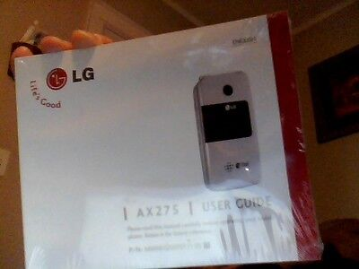 LG AX275 user guide manual for flip cell phone