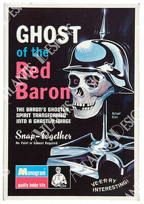 Ghost of the Red Baron Fridge Magnet 2 x 3