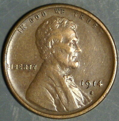 1914-S  Lincoln Wheat Cent Grade Xf  *as Pictured*   Inv 317