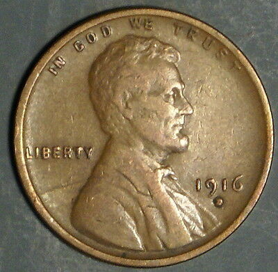 1916-D  Lincoln Wheat Cent Grade Xf  *as Pictured*   Inv 322