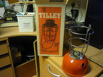 New Tilley Lamp Font .cage.. With Box..tilly Red