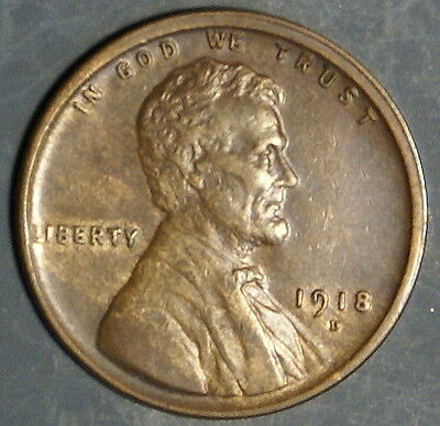 1918-D  Lincoln Wheat Cent Grade Au+  *as Pictured*   Inv 328