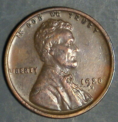 1920-D  Lincoln Wheat Cent Grade Au/bu  *as Pictured*   Inv 334