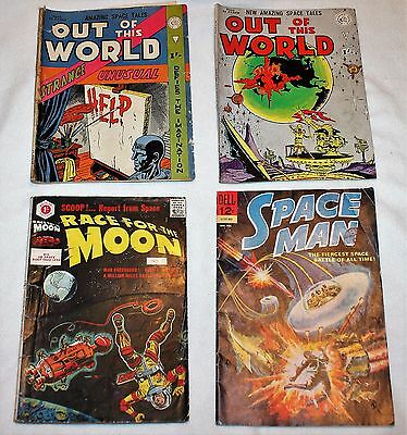 Race For The Moon, Out Of This World, Space Man Comic Kirby Ditko Dell Class