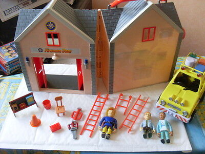 Fireman Sam Fire Station And 4 X 4 With Figures