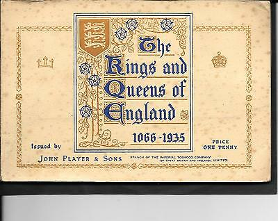 Player's - The Kings And Queens Of England - Full Set In Album - 1935