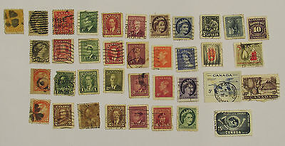 Collection of Antique Canada Stamps ~ Victoria, George, Elizabeth ~ Old 1c 2c 3c