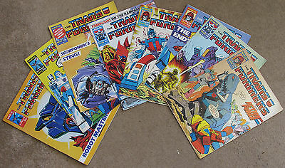 8 Transformers Comics ~ UK Marvel, 1986-88 72, 73, 131, 155, 165, 166, 169 & 175