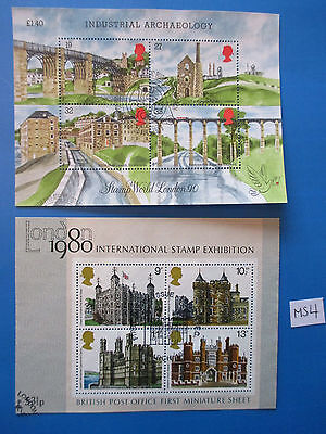 GB Early Commemorative M/S x 2: Industrial Archaeology & Historic Building  #MS4