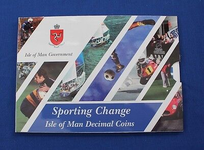"""1999 Isle of Man 9 coin """"Sporting Change"""" Uncirculated set in Folder   (X5/41)"""