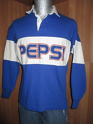 Vintage Pepsi Cola ~ Rugby Color Block Shirt Size Small