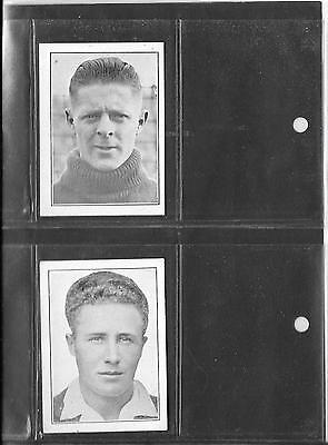 R & J Hill - Prominent Footballers - Season 1934/35 - 2 Cards