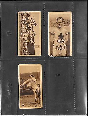 Godfrey Phillips - Olympic Champions - 1928 - 3 Cards