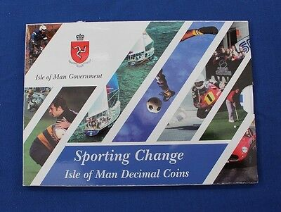 """1998 Isle of Man 9 coin """"Sporting Change"""" Uncirculated set in Folder   (X5/42)"""