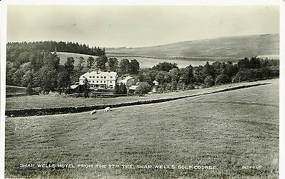 """RPPC Of """" Shaps Well Hotel from the 9th Tee   Golf Course   """" unused card"""